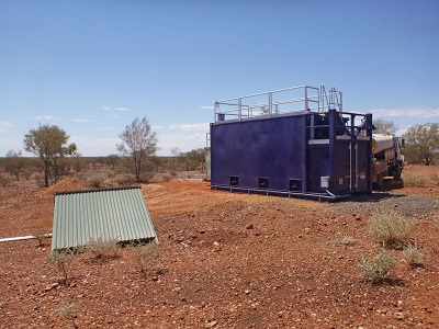Image of a water treatment system for mining