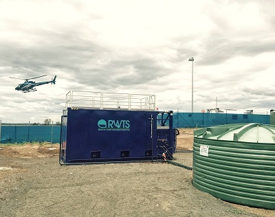 Image of a sewage treatment plant systems for a construction business